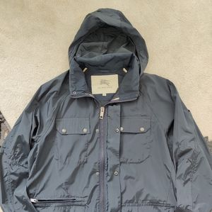 Men's Burberry Rain Jacket - Blue